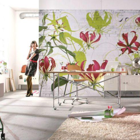 Fototapet Floral Komar Crini Gloriosa Superba