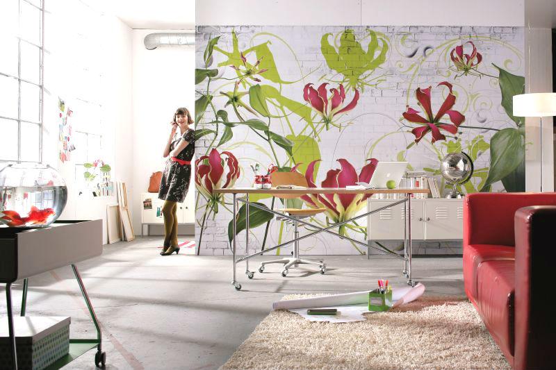 Floral Photomural Gloriosa Lilies