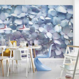 Fototapet Hortensii - Flori Albastre Interior
