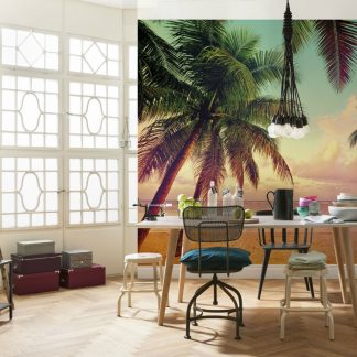 Fototapet Plaja - Apus de Soare la Miami - Interior