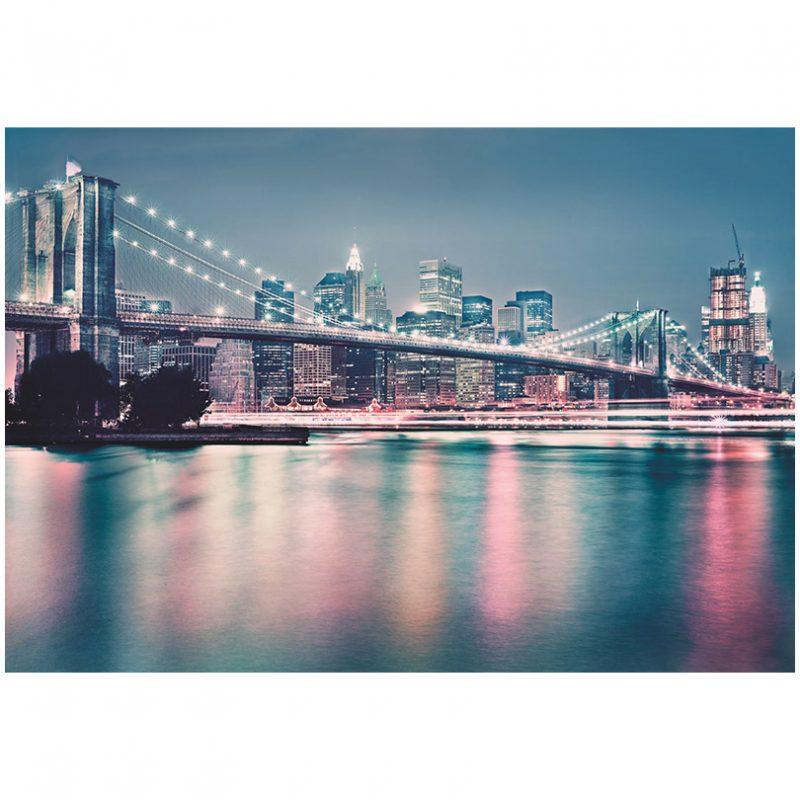 Fototapet New York Brooklyn Neon