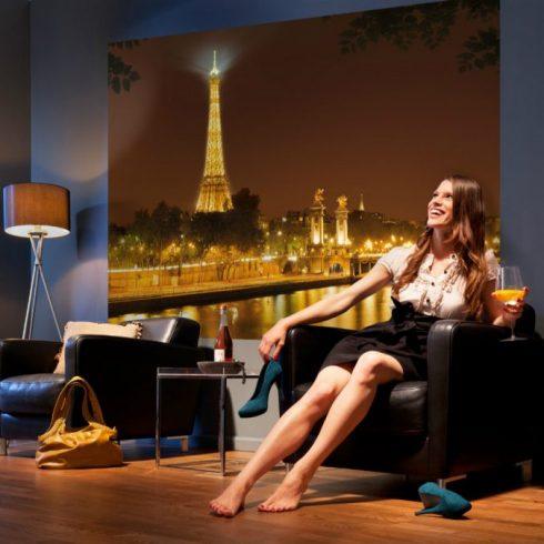 Fototapet Orase Noaptea Aurie Paris Interior