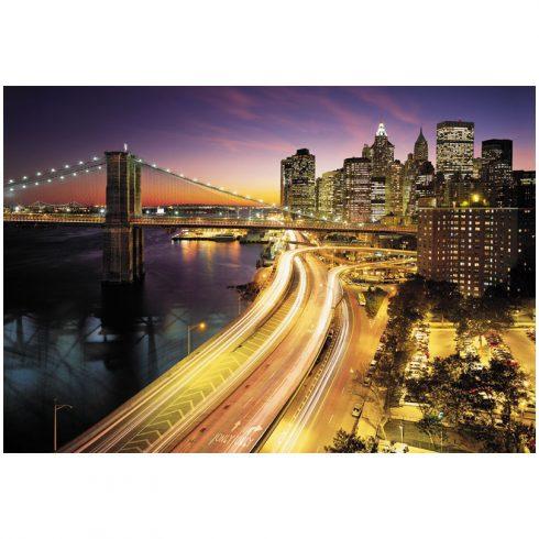 Fototapet orase noaptea New York