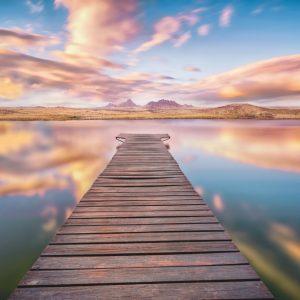 Fototapet Peisaje - Drum spre Serenitate Komar