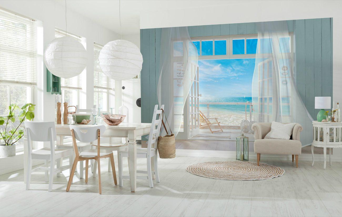 Fototapet peisaje - Fereastra catre plaja Malibu 8-956