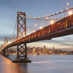 Fototapet Urban Komar - Podul Bay San Francisco 8-733