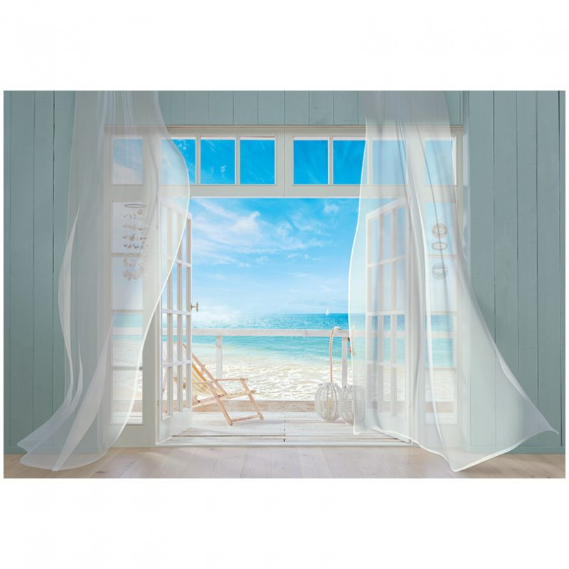 Fototapet fereastra catre plaja Malibu