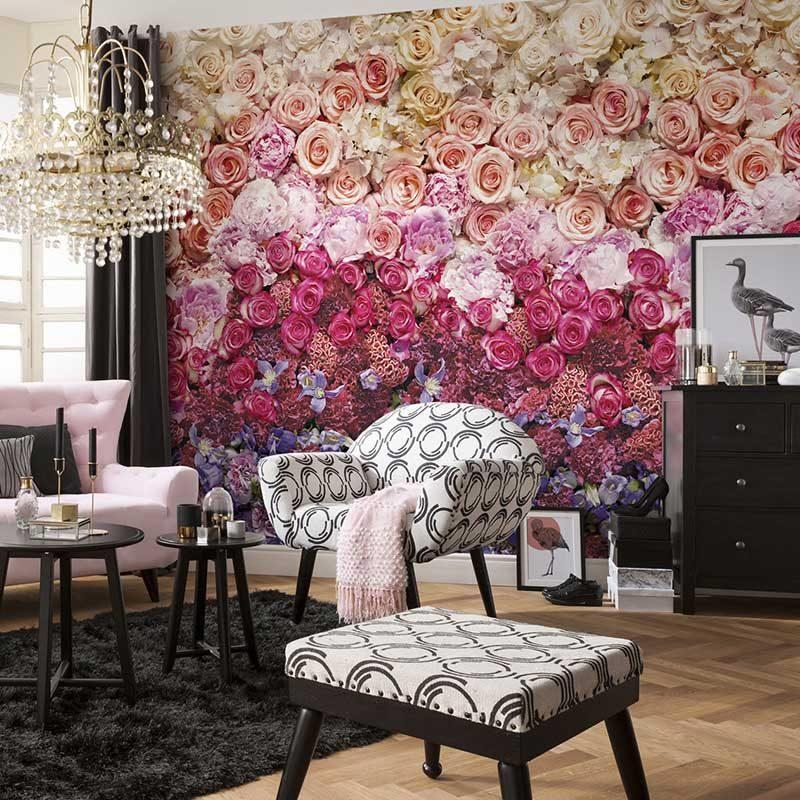 Fototapet floral Luxury Intense Pink - Catalog