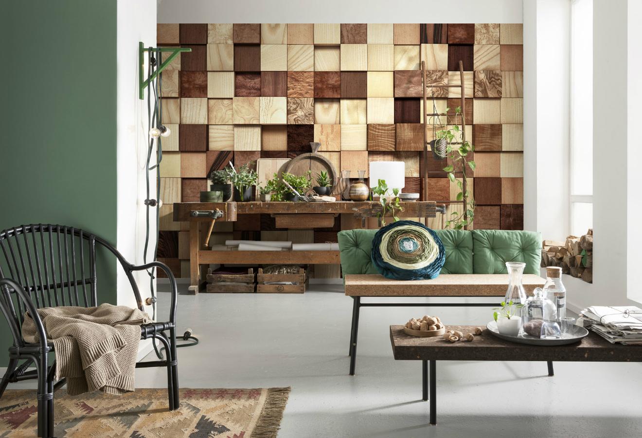 Wood Photomural Timber wall