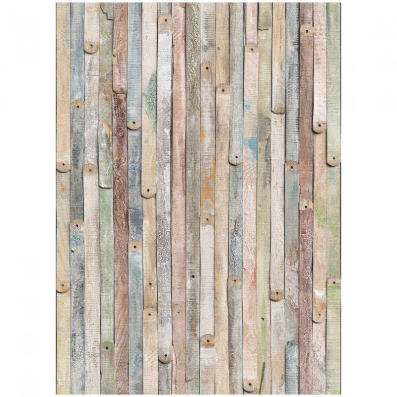 Fototapet lemn vintage pastel