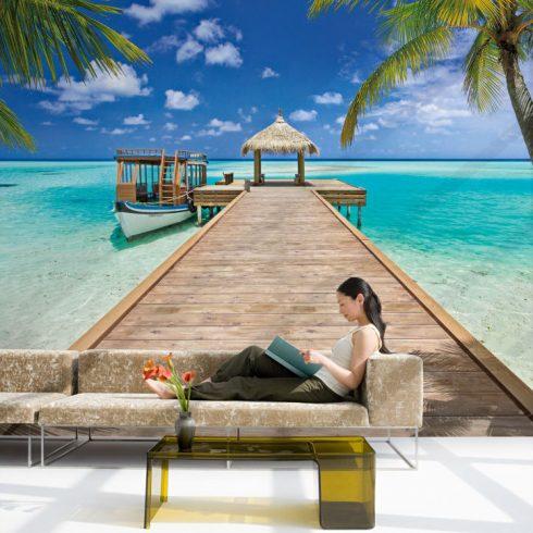 Fototapet plaja – Vacanta la resort - Ambient