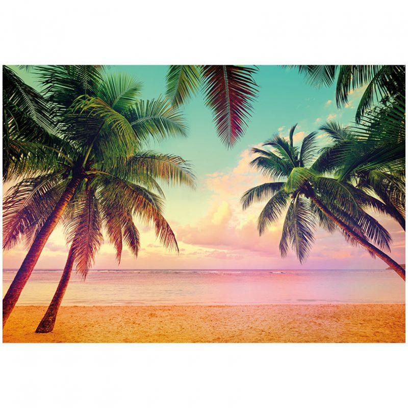 Fototapet plaja - Apus la Miami
