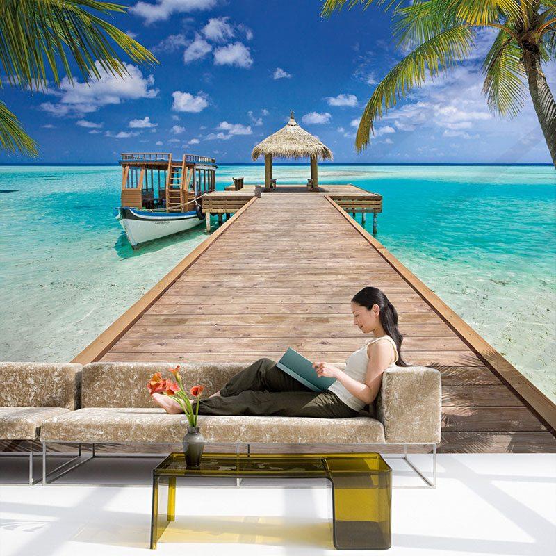 Fototapet plaja – Vacanta la resort