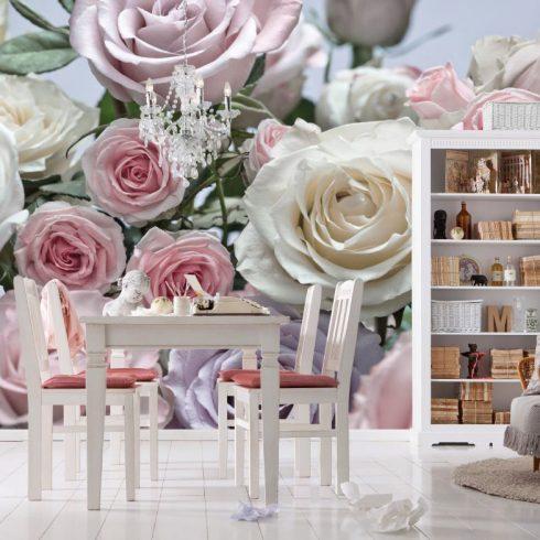 Fototapet trandafiri - Buchet pastelat Catalog