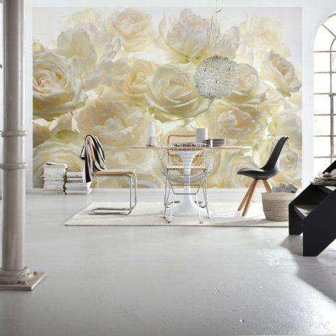 Fototapet trandafiri albi