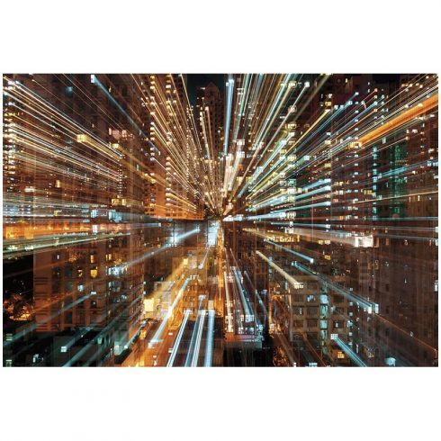 Fototapet urban fuziunea luminilor