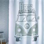 Perdea dus Vintage Volkswagen Transporter