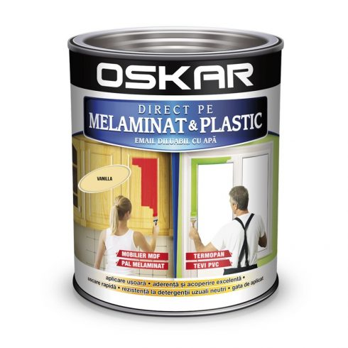 Vopsea pentru plastic si melaminat Oskar galben vanila
