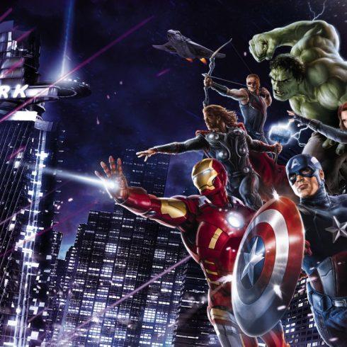 Fototapet Avengers - Noaptea in Oras