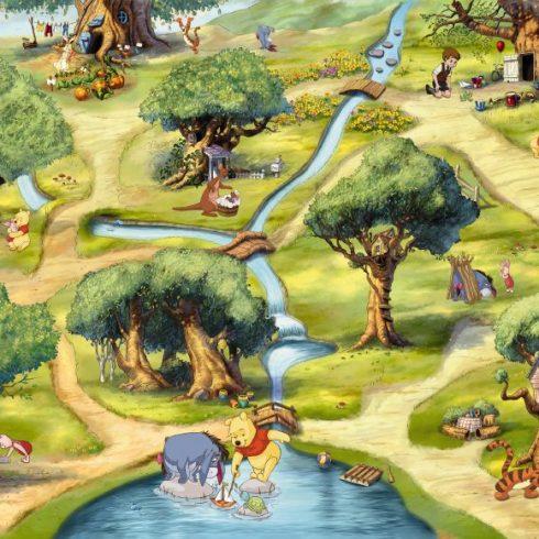 Fototapet Copii Winnie the Pooh - Padure