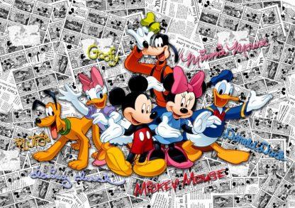 Fototapet Mickey Mouse - Benzi Desenate