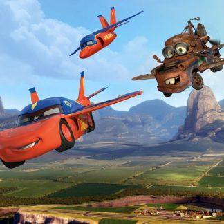 Fototapet Cars - Fulger McQueen in Aer