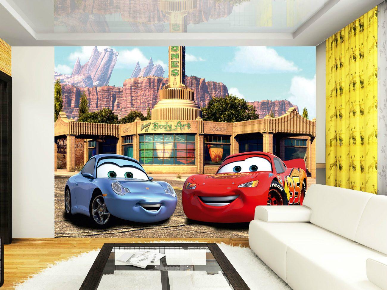 Fototapet Cars - Fulger McQueen si Sally AG Design