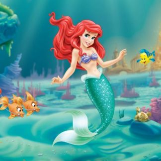 Fototapet Copii Ariel - Mica Sirena si Flounder