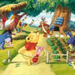 Fototapet Copii Winnie the Pooh - Aniversare in Padure