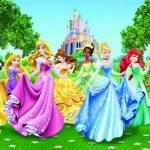 Fototapet Printese - In gradina palatului Disney