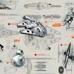 Fototapet Star Wars Blueprints