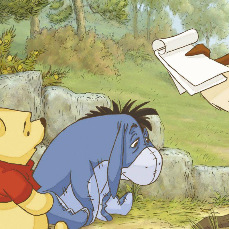 Fototapet Copii Winnie the Pooh - Prima Lectie - Detaliu