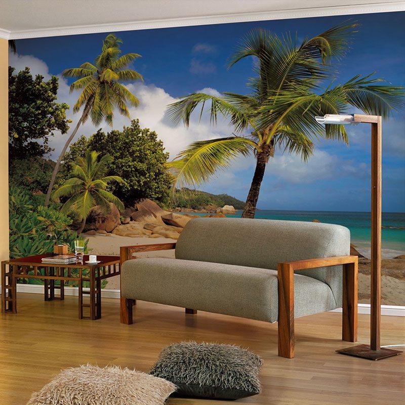 Fototapet natura – Plaja Praslin Seychelle