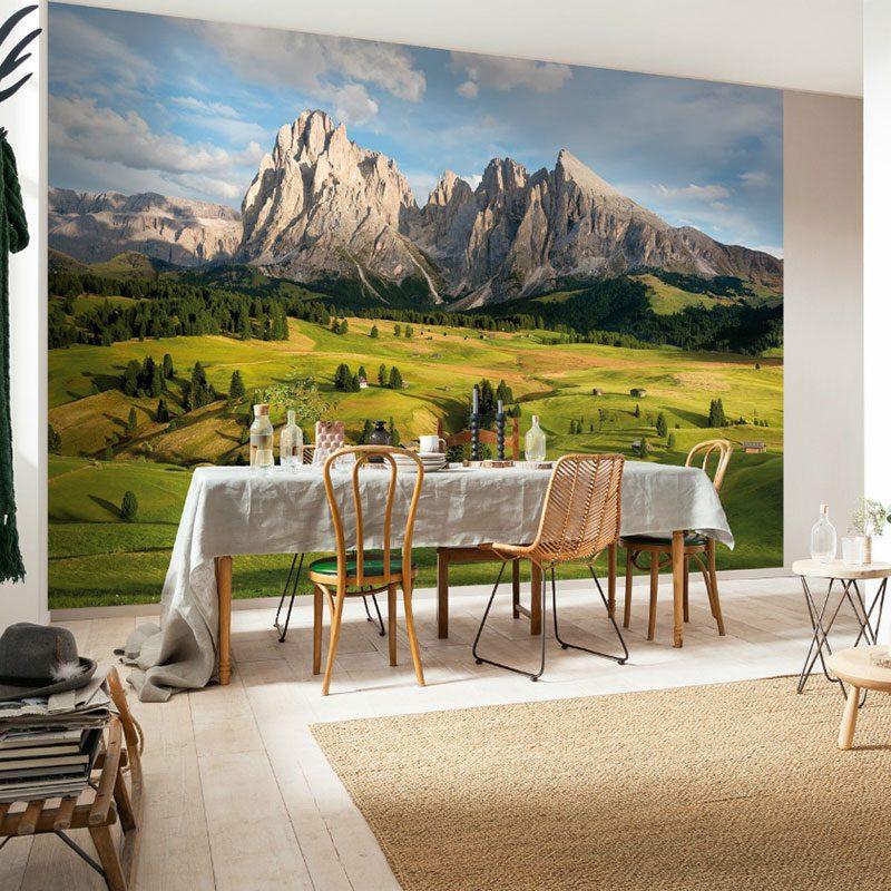 Fototapet peisaje – Panorama din Alpi