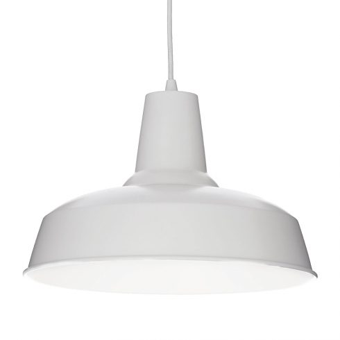 Lampa alba suspendata Ideal Lux Moby SP1