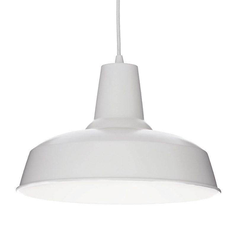 Lampa alba suspendata Ideal Lux Moby SP1