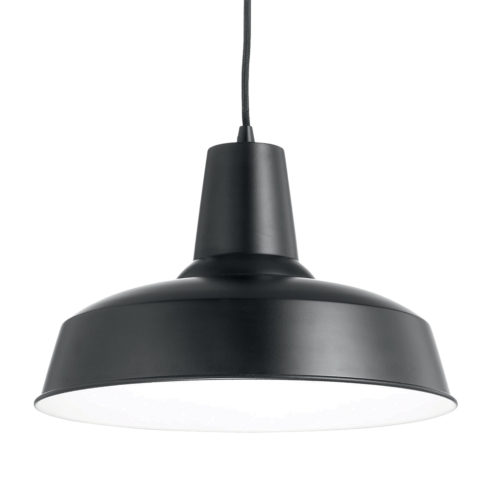 Lampa suspendata neagra Ideal Lux Moby SP1