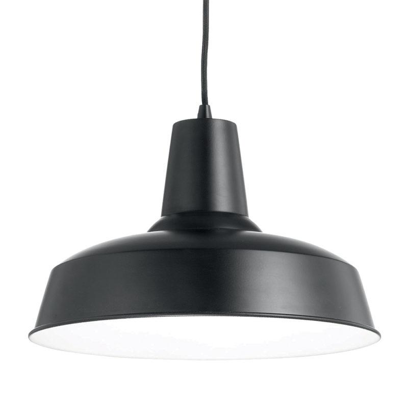 Lampa suspendata neagra Ideal Lux Moby SP1