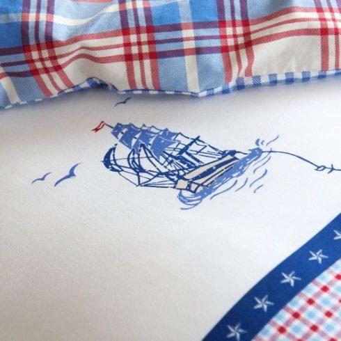 Lenjerie de pat copii stil Marin - Captain Ahoy Detaliu