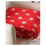 Patura fleece pufoasa Stars - Rosu Catalog