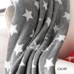 Patura fleece pufoasa Stars - Gri