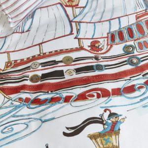 Lenjerie de pat copii - Corabia Piratilor Detaliu