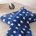 Patura fleece pufoasa Stars - Albastra