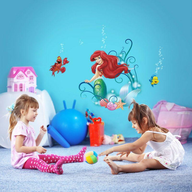 Sticker Copii Ariel - Mica Sirena si Prietenii Interior