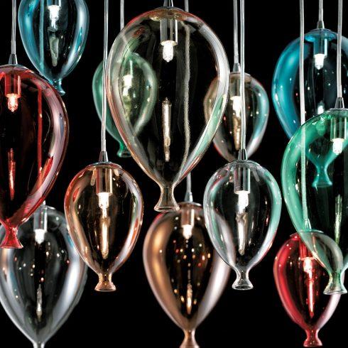 Lampa suspendata baloane sticla