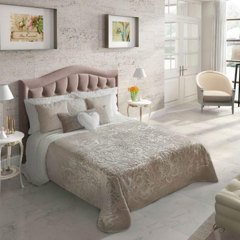 Cuvertura dormitor embosata - Gri Floral Catalog