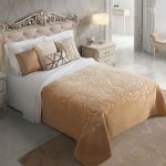 Cuvertura dormitor embosata - Bej Romantic