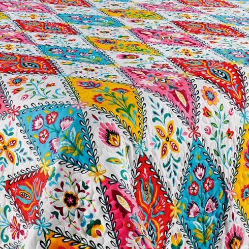 Cuvertura pat colorata cu doua fete de perna - Boho Detaliu