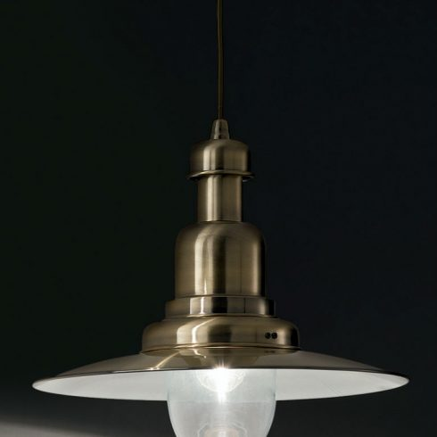 Lampa suspendata Ideal Lux - Fiordi SP1 Bronz Mare Detaliu