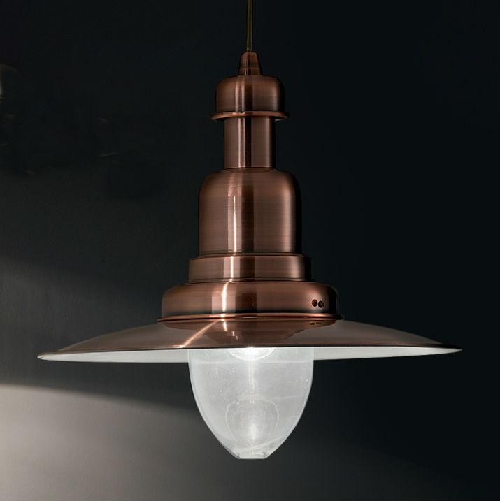 Lampa suspendata Ideal Lux - Fiordi SP1 Cupru Mare Detaliu